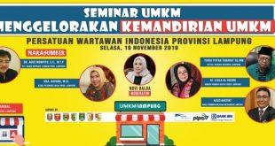 Besok, PWI Lampung Gelar Seminar UMKM