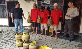Tiga Pencuri Tabung Gas Ditangkap Polsek Telukbetung Selatan