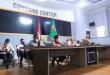 Bupati Lamteng Loekman Teleconfrence dengan Gubenur Lampung Arinal