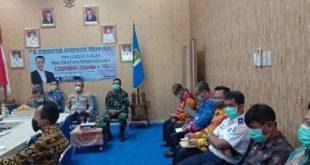 Bupati Pesawaran bersama Forkopimda Lakukan Teleconfrence dengan Gubenur Lampung Arinal
