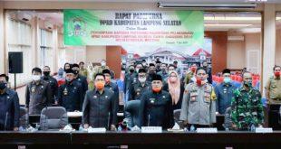 Bupati Lamsel Sampaikan Raperda Pertanggungjawaban APBD Tahun 2019