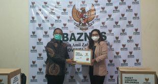 BAZNAS Lampung Terima Bantuan Sembako dari Permata Bank