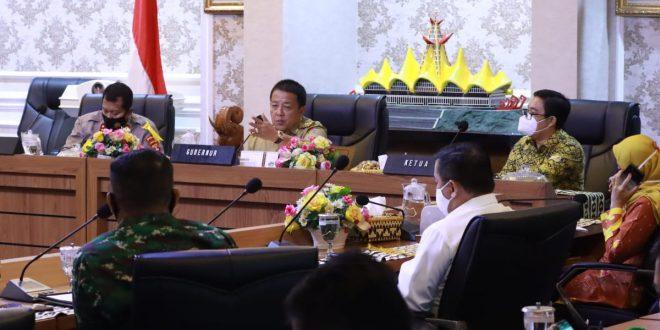 Gubernur Lampung Gelar Rapat Koordinasi Atasi Covid-19 Jelang Pilkada Serentak 2020
