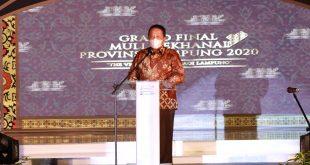 Gubernur Arinal Hadiri Grand Final Pemilihan Muli – Mekhanai Lampung 2020