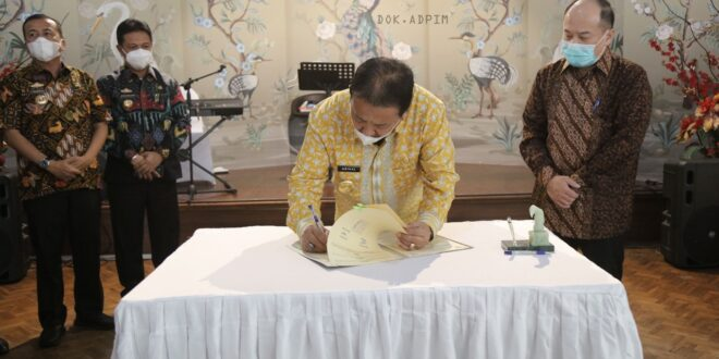 Gubernur Arinal Tandatangani Kesepakatan Penyediaan Alur Pelayaran di Muara Sungai Tulang Bawang