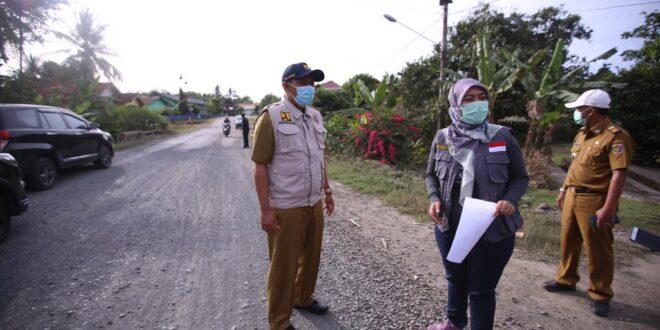 Wujudkan Visi Lampung Berjaya, Wagub Tinjau Kegiatan Peningakatan Kualitas Ruas Jalan Provinsi