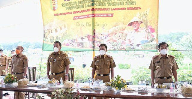 Rakor Pertanian dan Perikanan, Gubernur Arinal Jelaskan Keberhasilan Peningkatan Produksi Pertanian dan Strategi Pengamanan Pangan untuk Pemulihan Ekonomi Akibat Dampak Covid-19