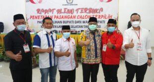 KPU Tetapkan Nanang-Pandu Bupati dan Wakil Bupati Lampung Selatan Terpilih
