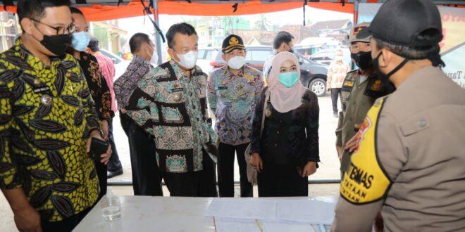 Tim Monitoring PPKM yang Dibentuk Gubernur Arinal Pantau Penanganan Pencegahan Covid-19 di Pesawaran dan Lampung Selatan