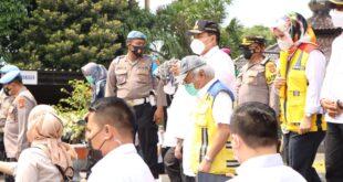 Gubernur Arinal dampingi kunjungan Rombongan Tim pemantauan Lokasi Penyekatan Peniadaan Mudik di Pelabuhan Bakauheni