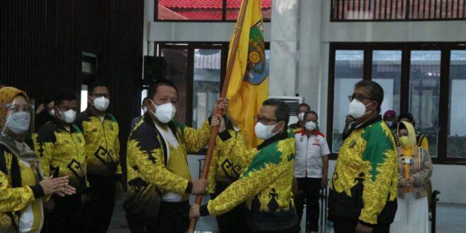 Gubernur Arinal Lepas Kontingen Lampung Pada PON XX Papua