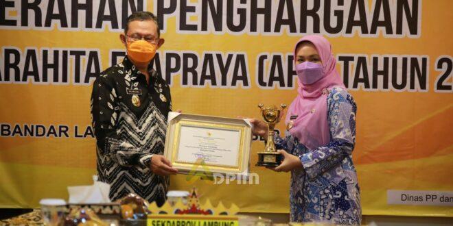 Lampung Kembali Raih Penghargaan Anugerah Parahita Ekapraya 2021